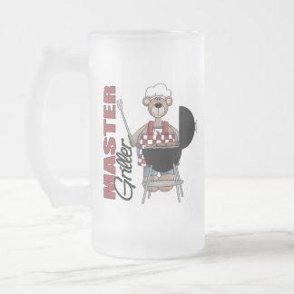 Master Griller Frosted Glass Beer Mug