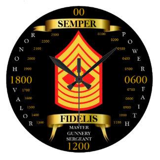 Master Gunnery Sergeant Large Clock