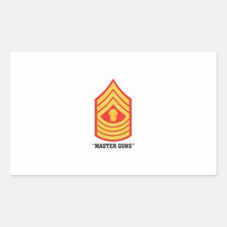 Master Guns Rectangular Sticker