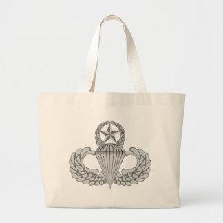 Master Jump/Parachutist Wings Large Tote Bag