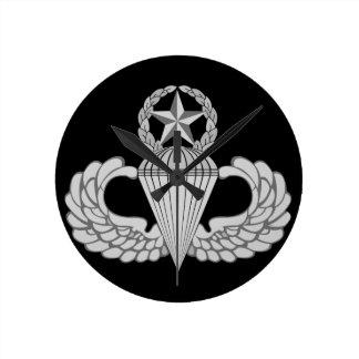 Master Jump/Parachutist Wings Round Clock