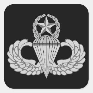 Master Jump/Parachutist Wings Square Sticker