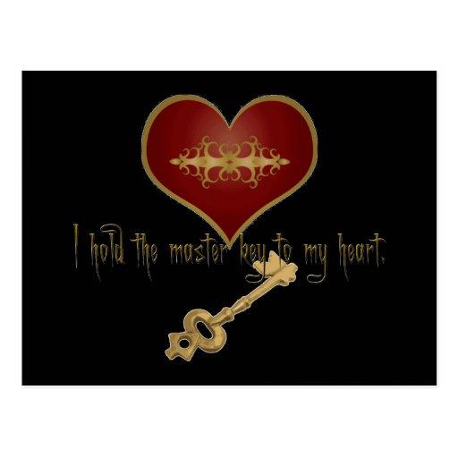 Master Key 2 My Heart Postcard