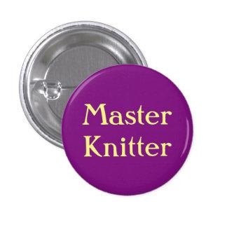 Master Knitter Pinback Button