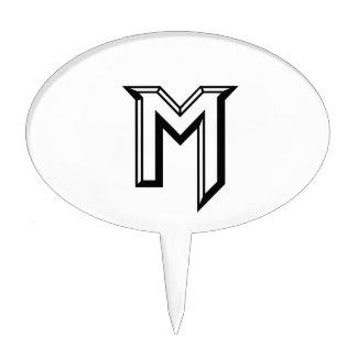 Master M Logo Cake Topper