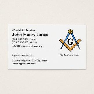 Master Mason Business Card