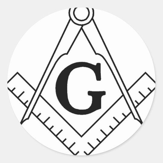 Master Mason Square and Compass Classic Round Sticker