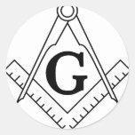 Master Mason Square and Compass Sticker