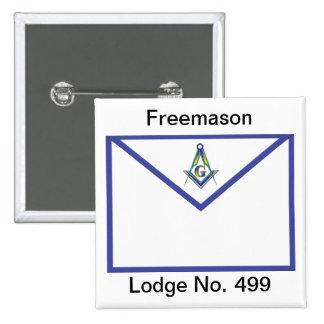 Master Masons Apron Pinback Button