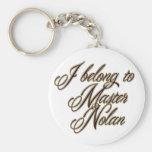 Master Nolan Basic Round Button Keychain