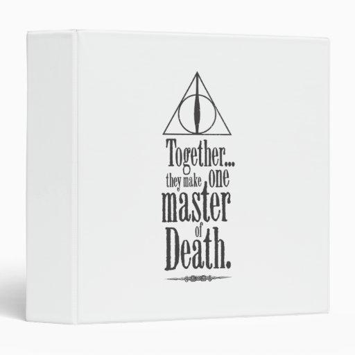Master of Death 3 Ring Binder