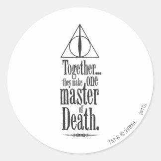 Master of Death Round Stickers