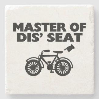 Master Of Dis' Seat Bicycle Stone Beverage Coaster