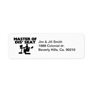 Master Of Dis' Seat Computer Labels