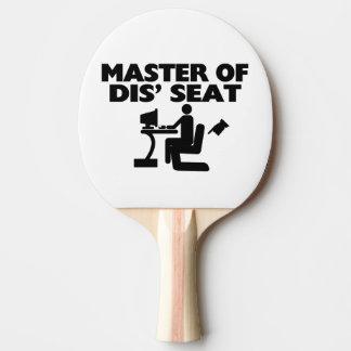 Master Of Dis' Seat Computer Ping Pong Paddle