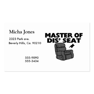 Master Of Dis' Seat Recliner Double-Sided Standard Business Cards (Pack Of 100)