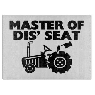Master Of Dis' Seat Tractor Cutting Board