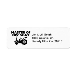 Master Of Dis' Seat Tractor Label