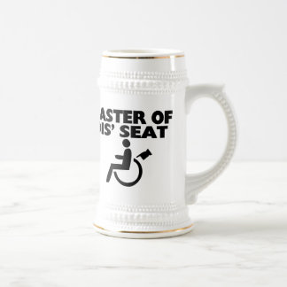 Master Of Dis' Seat Wheelchair Beer Stein