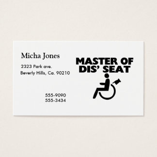 Master Of Dis' Seat Wheelchair Business Card