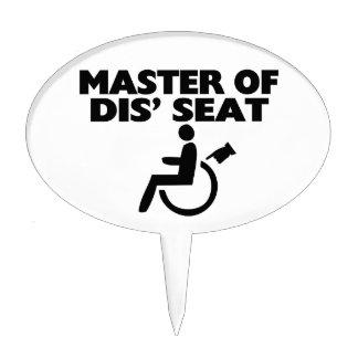 Master Of Dis' Seat Wheelchair Cake Topper
