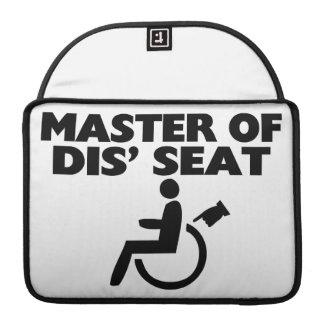 Master Of Dis' Seat Wheelchair MacBook Pro Sleeve