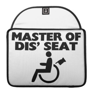 Master Of Dis Seat Wheelchair MacBook Pro Sleeve