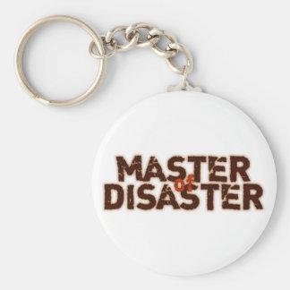 Master OF Disaster Basic Round Button Keychain