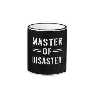 Master of Disaster Ringer Coffee Mug