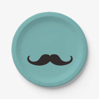 Master of Disguise Mustache Customizable Paper Plate