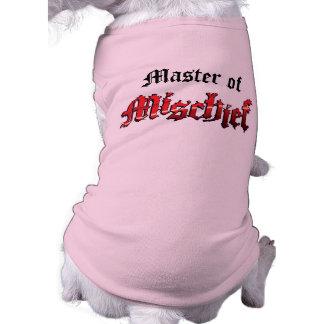 Master of Mischief Dog t-shirt