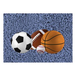 MASTER OF SPORTS (baseball, football, basketball) Large Business Card
