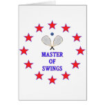 Master of Swings Racquetball Card
