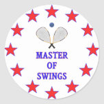 Master of Swings Racquetball Classic Round Sticker