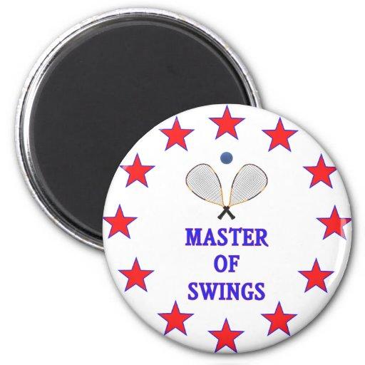 Master of Swings Racquetball Fridge Magnet