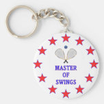 Master of Swings Racquetball Keychain