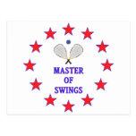 Master of Swings Racquetball Postcard