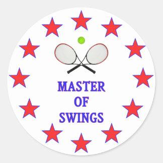 Master of Swings Tennis Classic Round Sticker