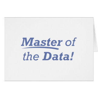 Master of the Data! Card