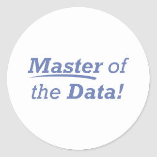 Master of the Data! Classic Round Sticker