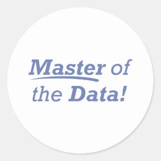 Master of the Data! Classic Round Sticker