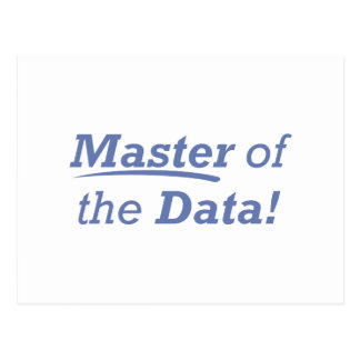 Master of the Data! Postcard