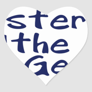 Master of the geeks heart sticker