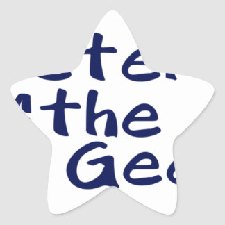 Master of the geeks star sticker