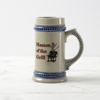 Master of the Grill 18 Oz Beer Stein