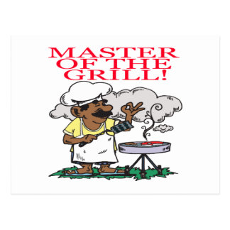 Master Of The Grill Postcard