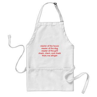 master of the housemaster of the dogmaster of t... adult apron