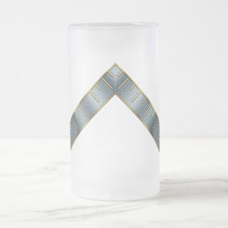 Master of the Lodge Frosted Glass Beer Mug