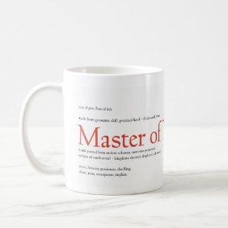 Master of Typography Classic White Coffee Mug