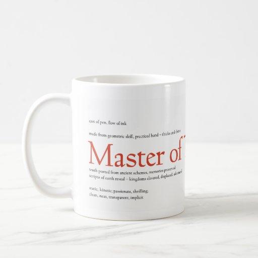 Master of Typography Classic White Coffee Mug
